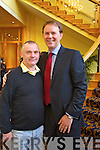 Paddy Whack Moriarty Arthur Spring celebrates at the North Kerry, West Limerick Election 2011 count at the Brandon Hotel Tralee on Saturday.
