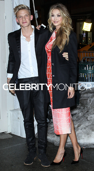 NEW YORK, NY - FEBRUARY 18: Cody Simpson, Gigi Hadid at the Sports Illustrated Swimsuit 50th Anniversary Party held at Swimsuit Beach House on February 18, 2014 in New York City. (Photo by Jeffery Duran/Celebrity Monitor)