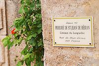 Prieure de St Jean de Bebian. Pezenas region. Languedoc. France. Europe.