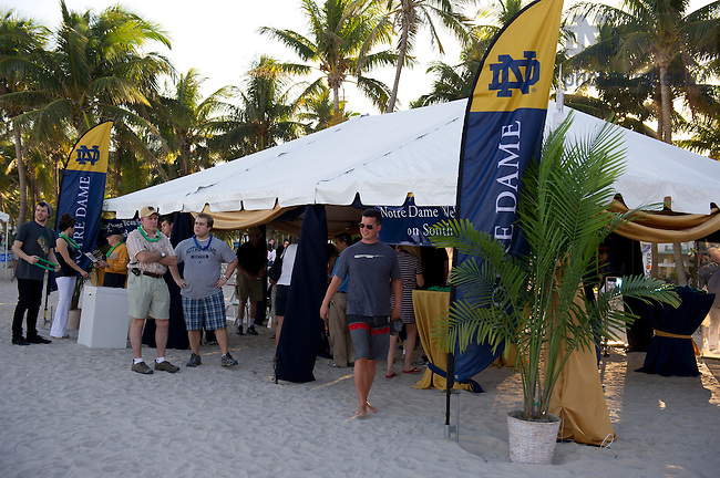 Jan 5, 2013; The Discover Championship Fan Experience on South Beach. Notre Dame will be squaring off against the Alabama Crimson Tide in the 2013 BCS National Championship Monday night. Photo by Barbara Johnston/University of Notre Dame..