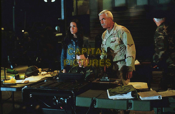 "Betty Ross (JENNIFER CONNELLY) and her father, General ""Thunderbolt"" Ross (SAM ELLIOTT), disagree on how to handle the escalating situation in The Hulk.  .Film Title: The Hulk.  .Filmstill - Editorial Use Only.Ref: FB.sales@capitalpictures.com.www.capitalpictures.com.Supplied by Capital Pictures."