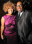 Erica Campbell and Marvin Sapp at a gala celebrating 50 years of ministry for Bishop I.V. Hilliard at the New Light Christian Church August 31,2012.(Dave Rossman/For the Chronicle)