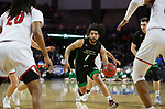 SIOUX FALLS, SD - MARCH 8: Marlon Stewart #1 of the North Dakota Fighting Hawks drives to the basket against the South Dakota Coyotes at the 2020 Summit League Basketball Championship in Sioux Falls, SD. (Photo by Richard Carlson/Inertia)