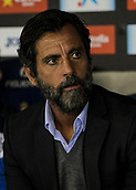 30th October 2017, Cornella-El Prat, Cornella de Llobregat, Barcelona, Spain; La Liga football, Espanyol versus Real Betis; Quique Sanchez Flores, Espanyol manager;
