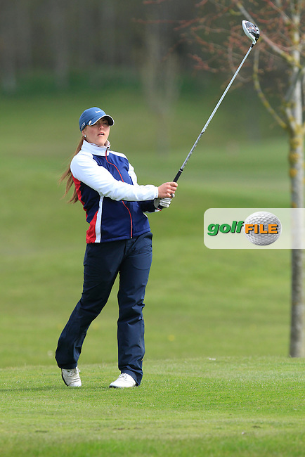 Sofie Babic (SWE) on the 13th tee during Round 1 of The Irish Girls Open Strokeplay Championship in Roganstown Golf Club on Saturday 18th April 2015.<br /> Picture:  Thos Caffrey / www.golffile.ie