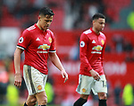 Alexis Sanchez of Manchester United walks off dejected during the premier league match at the Old Trafford Stadium, Manchester. Picture date 15th April 2018. Picture credit should read: Simon Bellis/Sportimage