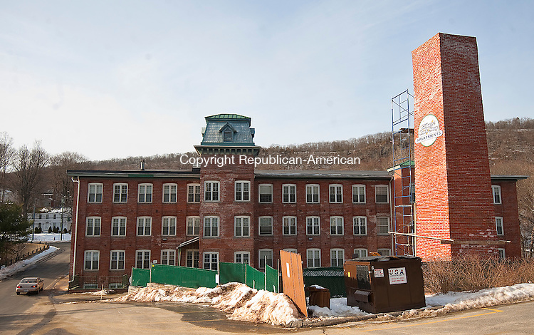 WINSTED,  CT-122316JS05-The former site of the William L. Gilbert Clock Company in Winsted. It is now home to the Gilbert Clock Apartments. <br />  Jim Shannon Republican American