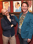 "Tom De Trinis and Drew Droege During the ""Happy Birthday Doug"" photo call at Sardi's Restaurant on February 5, 2020 in New York City."