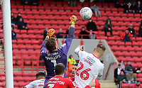 Dillon Phillips of Charlton Athletic punches the ball clear during Charlton Athletic vs Middlesbrough, Sky Bet EFL Championship Football at The Valley on 7th March 2020