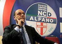 Presentazione dei candidati campani del Nuovo centro destra alle elezioni europee<br /> nella foyto Angelino Alfano