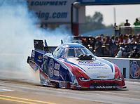 Sep 16, 2016; Concord, NC, USA; NHRA funny car driver Robert Hight during qualifying for the Carolina Nationals at zMax Dragway. Mandatory Credit: Mark J. Rebilas-USA TODAY Sports