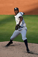 Tampa Yankees pitcher Rafael De Paula (39) during a game against the Lakeland Flying Tigers on April 5, 2014 at Joker Marchant Stadium in Lakeland, Florida.  Lakeland defeated Tampa 3-0.  (Mike Janes/Four Seam Images)