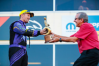 Sep 15, 2019; Mohnton, PA, USA; NHRA funny car driver Jack Beckman (left) celebrates with team owner Don Schumacher after winning the Reading Nationals at Maple Grove Raceway. Mandatory Credit: Mark J. Rebilas-USA TODAY Sports