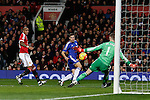 David De Gea of Manchester United saves from a follow up shot by Cesar Azpilicueta of Chelsea - English Premier League - Manchester Utd vs Chelsea - Old Trafford Stadium - Manchester - England - 28th December 2015 - Picture Simon Bellis/Sportimage