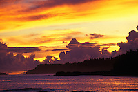 Kilauea lighthouse at sunset, North shore, Kauai