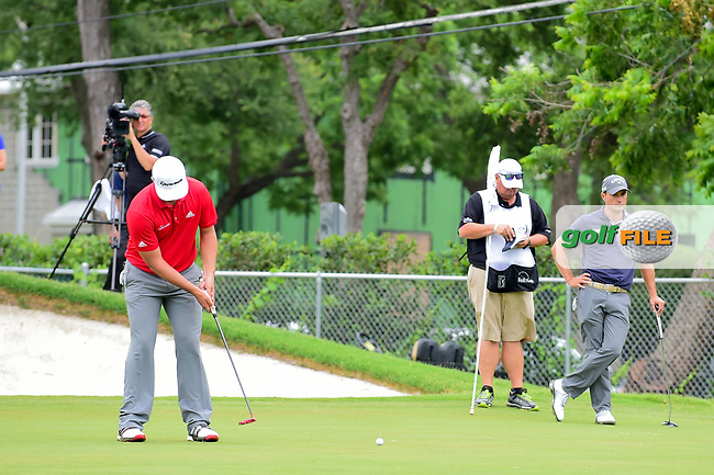 Jon Rahm (ESP) barely misses his birdie putt on 15 during round 4 of the Dean &amp; Deluca Invitational, at The Colonial, Ft. Worth, Texas, USA. 5/28/2017.<br /> Picture: Golffile | Ken Murray<br /> <br /> <br /> All photo usage must carry mandatory copyright credit (&copy; Golffile | Ken Murray)