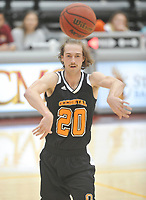 #20 Austin DeWitz<br /> The Occidental College men's basketball team plays against Claremont-Mudd-Scripps in the SCIAC Semi Final game on Friday, January 22, 2019 in Claremont.<br /> Oxy won, 64-62 in overtime and will go on to the final championship against Pomona-Pitzer on Saturday.<br /> (Photo by John Valenzuela, Freelance Photographer)
