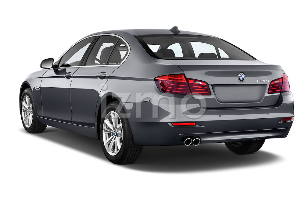 Car pictures of rear three quarter view of a 2015 BMW 5 Series 528i 4 Door Sedan Angular Rear