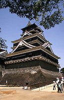 Kumamoto Castle  is a large and extremely well fortified Japanese castle. The signature curved stone walls as well as wooden overhangs were designed to prevent foes from penetrating the castle. Rock falls were also used as deterrents. Kumamoto Castle recently celebrated its 400th anniversary.