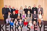 Kerry Archaeological and Historical Society Annual Lunch<br /> Sean Seosamh O Conchubhair who recived the Kerry Heritage Award  at their annual dinner at the Fels Point Hotel on Sunday Pictured and his wife Dawn and family and  members of the Historical Society