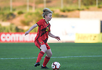 20200304  Parchal , Portugal : Belgian Charlotte Tison (15) pictured during the female football game between the national teams of New Zealand , known as the Football Ferns and Belgium called the Red Flames on the first matchday of the Algarve Cup 2020 , a prestigious friendly womensoccer tournament in Portugal , on wednesday 4 th March 2020 in Parchal , Portugal . PHOTO SPORTPIX.BE   DAVID CATRY