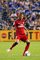Guillaume Hoarau (9) of Paris Saint-Germain. Chelsea FC and Paris Saint-Germain played to a 1-1 tie during a 2012 Herbalife World Football Challenge match at Yankee Stadium in New York, NY, on July 22, 2012.