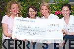 MINI-MARATHON: Caroline Corridon, Treasa Falvey, Ballyheigue and Asley O'Connor, Kilmoyley (not pictured) who ran the Women's Flora Dublin Mini-Marathon and raised EUR1501.00 for the Oncology department at Kerry General Hospital presenting their cheque on Friday l-r: Caroline Corridon, Treasa Falvey, Sinead Dunne (staff nurse) and Maree Shortall (staff nurse).   Copyright Kerry's Eye 2008