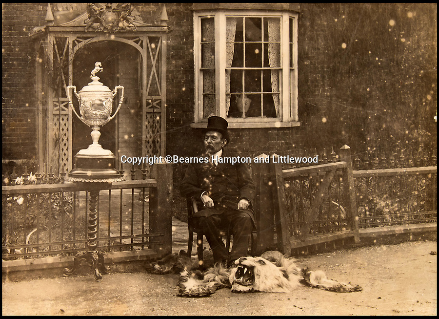 BNPS.co.uk (01202 558833)<br /> Pic: BearnesHampton&Littlewood/BNPS<br /> <br /> Lord George in later years outside his home in Margate.<br /> <br /> A fascinating archive of photographs and documents relating to Britain's 'Greatest Showman' has emerged for sale.<br /> <br /> Lord George Sanger established one of the very first circus shows in Victorian times and was the British equivalent of P.T Barnum, the subject of the hit musical movie The Greatest Showman.<br /> <br /> Now an archive that includes black and white photos of crowds of people gathered outside a huge circus tent in Margate as well one of five elephants lined up outside the same venue is available for sale at auction in Devon.