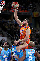 Valencia Basket Club's Victor Faverani (r) and Asefa Estudiantes' German Gabriel during Spanish Basketball King's Cup match.February 07,2013. (ALTERPHOTOS/Acero) /NortePhoto