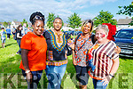 St Bridgets Community centre having a fun evening in Marion Park on Tuesday<br /> L to r: Eunice Anegbode,  Omowulni Oluwadare, Ruth Oristejolomi and Joan Pembroke.