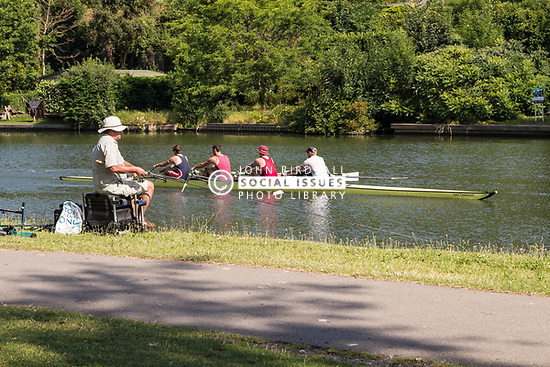 Rowing on the River Thames, Berkshire UK 2014 UK