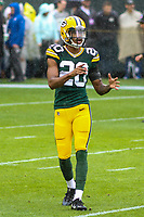 Green Bay Packers cornerback Kevin King (20) during a National Football League game against the New Orleans Saints on October 22, 2017 at Lambeau Field in Green Bay, Wisconsin.  New Orleans defeated Green Bay 26-17. (Brad Krause/Krause Sports Photography)