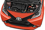 Car Stock 2015 Toyota AYGO X-CITE 2WD MT 5 Door Micro Car 2WD Engine high angle detail view