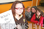 Lisa McDonough of the Presentation Secondary School in Listowel, with Shauna Brosnan, Michelle Quinn and Katie Lucey.   Copyright Kerry's Eye 2008