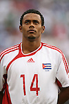 10 June 2007: Cuba's Jaime Colome. The Panama and Cuba Men's National Teams tied 2-2 at Giants Stadium in East Rutherford, New Jersey in a first round game in the 2007 CONCACAF Gold Cup.