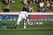 1st December 2017, Basin Reserve, Wellington, New Zealand; International Test Cricket, Day 1, New Zealand versus West Indies;  Jeet Raval sweeps
