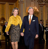 Royal Belgian family at the  New Year's reception - Belgium