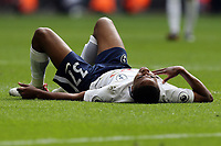 Kyle Walker-Peters of Tottenham Hotspur lies injured during Tottenham Hotspur vs Leicester City, Premier League Football at Wembley Stadium on 13th May 2018