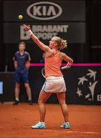 Den Bosch, The Netherlands, Februari 9, 2019,  Maaspoort , FedCup  Netherlands - Canada, first match: Richel Hogenkamp (NED)<br />
