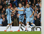 Ilkay Gundogan of Manchester City celebrates his first goal during the Champions League Group C match at the Etihad Stadium, Manchester. Picture date: November 1st, 2016. Pic Simon Bellis/Sportimage