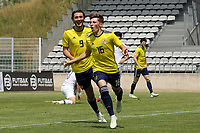 Billy Gilmour celebrates scoring Scotland's opening goal during South Korea Under-21 vs Scotland Under-21, Tournoi Maurice Revello Football at Stade Parsemain on 2nd June 2018