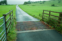 Cattle grid on a farm road, Whitewell, Lancashire....Copyright..John Eveson, Dinkling Green Farm, Whitewell, Clitheroe, Lancashire. BB7 3BN.01995 61280. 07973 482705.j.r.eveson@btinternet.com.www.johneveson.com