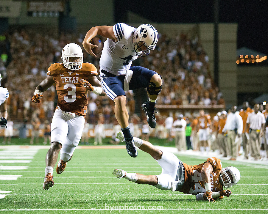 14FTB at Texas 1645.CR2<br /> <br /> 14FTB at Texas<br /> <br /> BYU - 41<br /> Texas - 7<br /> <br /> September 6, 2014<br /> <br /> Photography by Jon Hardy/BYU Photo<br /> <br /> BYU Photo 2014<br /> All Rights Reserved<br /> photo@byu.edu <br /> (801) 422-7322