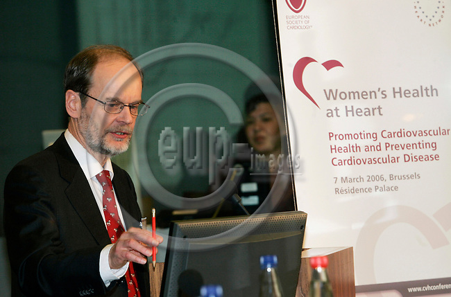 BRUSSELS - BELGIUM - 07 MARCH 2006 -- The conference ?Women's Health at Heart - Promoting Cardiovascular Health and Preventing Cardiovascular Disease?. -- Tapani Melkas, Director Ministry of Social Welfare and Health (TBC) on  the Finnish Presidency plans to take forward EU action on CVD. -- PHOTO: JUHA ROININEN / EUP-IMAGES