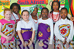 Pupils at CBS Primary Tralee getting ready for the school concert as part of International Arts week last week. .Front L-R Kelly O'Driscoll, Emma Byrne and Busola Akintope. .Back L-R Christabel Egharevba, Feyi Odugbesan, Dorcas Oyewande and Nkechi Dike.