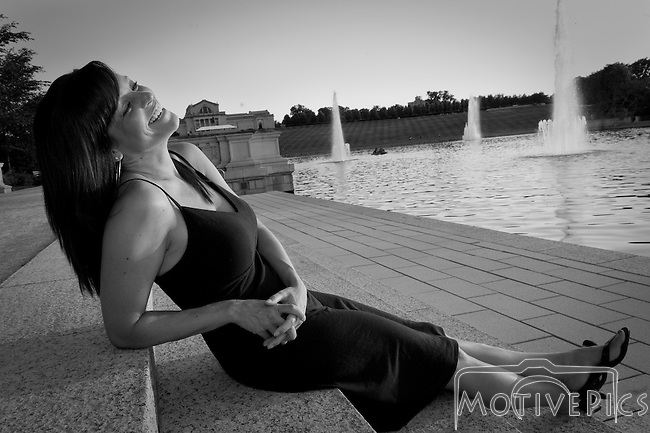 "Model Andrea at Forrest Park fountains. -  If you like my photos, make sure to ""Like"" Motive Pics on FaceBook."