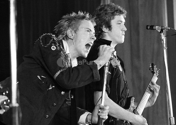 The Sex Pistols Notre Dame Meeting Hall, London 15 November 1976.<br /> The Pistols film a Janet Street Porter TV Special with an invited audience. Credit: Ian Dickson/MediaPunch
