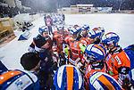 Bolln&auml;s 2014-01-17 Bandy  Bolln&auml;s GIF - Villa Lidk&ouml;ping BK :  <br />  Bolln&auml;s tr&auml;nare Franco Bergman och Bolln&auml;s spelare under en timeout<br /> (Foto: Kenta J&ouml;nsson) Nyckelord:  tr&auml;nare manager coach