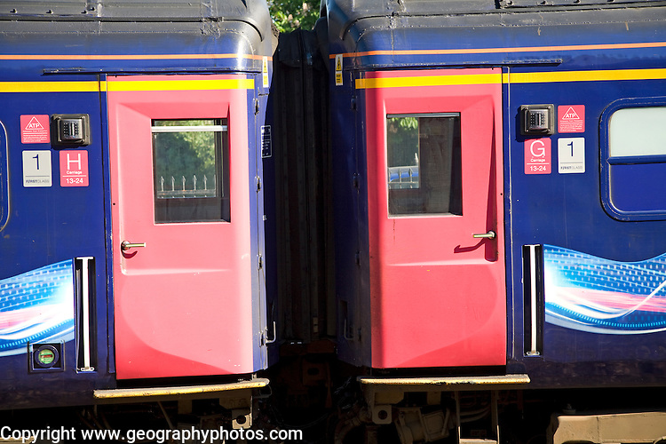 Great Western train doors carriage detail