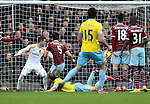 Crystal Palace's Glenn Murray scoring his sides third goal<br /> <br /> Barclays Premier League - West Ham United  vs Crystal Palace  - Upton Park - England - 28th February 2015 - Picture David Klein/Sportimage
